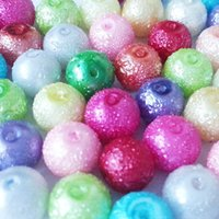 assorted pearl beads - 4mm mm mm mm Assorted Colors Round Seafoam Glass Stardust Pearl Beads for Jewelry Bracelet Necklace Craft Findings