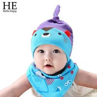 bears photography - newborn photography baby hat girls and boy summer style Cute cartoon bear colors hat Department neck saliva with scarf