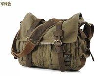 Wholesale New Vintage Casual Unisex Men Women Shoulder Bag Canvas Leather Fashion Men Crossbody Messenger Satchel Laptop School Bag H9976