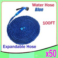 pocket hose - 100FT Expandable Flexible Garden Water Pocket Hose With Spray Good Nozzle Head opp bag by ZY SG