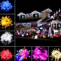 LED christmas string lights - PROMOTION ITEMS Big discout LEDS LED String Lights M V V for Clear Wire Christmas decoration X mas holiday lights