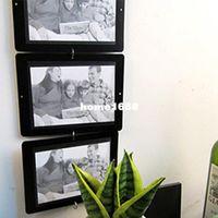 Wholesale Hot Sale Set Morden picture frame to pictures transparent Plastic Frame DIY Picture black border Frame Porta Home Decor