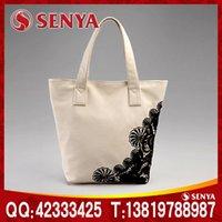 cotton bag - White made Ann Ann Cotton canvas shopping bag portable canvas silkscreen canvas
