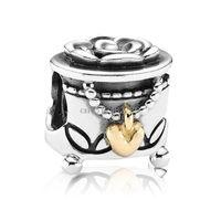 Wholesale New Genuine Fine Unique Box Design Sterling Silver European Bead Charms For DIY Fashion Snake pandora Bracelet Bangle Women Jewelry