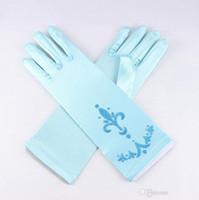 Wholesale Frozen Gloves Elsa Princess Girl Fancy Gloves Girls Costumes Snow Queen Gloves Frozen Birthday Gift Cosplay Gloves For Kids