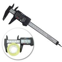 Wholesale Carbon Fiber Composite inch mm Vernier Digital Electronic Caliper Ruler ZH278