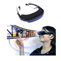 Wholesale COOL quot Virtual Wide Screen Video Glasses Eyewear Mobile Private Theater Digital with Card Slot Built in GB Flash Memory