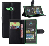 Wholesale 10 PU Leather Card holder Slot Wallet Stand With Plastic holder Case Cover For Nokia Lumia
