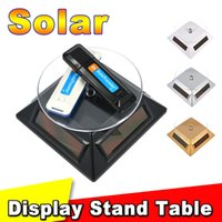 Wholesale Hot Exhibition Stand Solar Auto Rotating Display Stand Rotary Turn Table Plate For mobile MP4 Watch jewelry VIP Store
