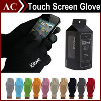 Wholesale Unisex iGlove Capacitive Finger Touch Screen Glove for iPhone S S Plus iPad Smart Phone iGloves Intellegent Gloves with Retail Box DHL