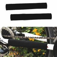 bicycle frame protectors - Protable Bicycle Chain Protective Belt Cycling Mountain Bike Frame Color Protector Magic Sticker Color Random B021