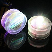 Wholesale LED Submersible Candles with led Light Waterproof Underwater Tea Lights Wedding Party Tea Light Christmas Romantic Gifts Confession Candles