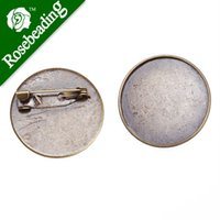 antique tie backs - 25mm Antique Bronze Plated Copper Cameo Brooch back Tie Tac Clutch with mm Round Bezel Cup fit mm cabochon sold pkg