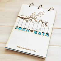 anniversary guest books - Personalized Wedding guest book Rustic wedding guestbook album Custom wood engagement anniversary gift wedding book styles