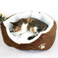Wholesale 20 Imitation cashmere Small dog cat bed pet dog supplies Keeping warm cotton nest