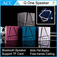 Wholesale Q One Cube Style LDE Light Glowing Protabel Bluetooth HIFI Speaker Wireless Outdoor Loudspeaker Support FM Radio TF Card Hand free Calling