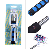 Wholesale Selfie Stick Monopod Foldable Q1 CM Wired Monopod mount clip Selfie Sticks Handheld Tripod for iphone Samsung S5 pc