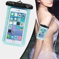 Téléphone sac étanche en PVC Underwater Téléphone Pochette Sac à sec pour iPhone 4 / 5S / 6/6 plus Samsung S6 / S5 Remarque HTC Sac étanche