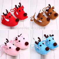 baby deer crib shoes - Cute Winter Xmas Elk Deer Style Baby Girl Boys Crib Shoes Plush Fleece Shoes New