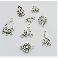 Wholesale Free Mixed Tibetan Silver Connectors charms Pendant For Bracelet Jewelry Making
