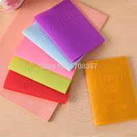 Wholesale Passport Case New Candy colored Silicone Dustproof Waterproof