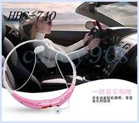 Cheap 150pcs Lot HBS-740 Bluetooth Stereo headset Wireless earphone sport headphone For LG iPhone Samsung HBS 740 neckband handsfree headphone.