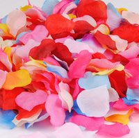 artificial leaves - Artificial Silk Rose Flowers Petals Flower Petals Leaves Wedding Table Decorations Event Party Supplies Confetti Wreaths