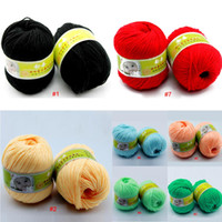 Wholesale 1lot g ball new Worsted Soft Smooth Natural Silk Wool Baby Knitting Sweater Knitting Yarn