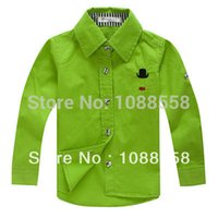 Wholesale New shirts cotton long sleeve children shirts fashion pure shirt candy color bottoming shirt nova kids