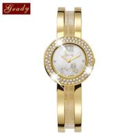 bangle watches - Fashion Grady Gold Watch Women Shinny Czech Stone Watches Diamond Bangle Wrist Quartz Watch