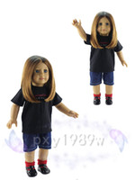 18 doll - Handmade Cotton T shirt shorts Suit Outfit Clothes for quot American Girl Doll