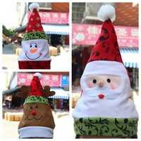 Wholesale 2015 New Christmas Cap Hat Thick Ultra Soft Plush Santa Claus Christmas Holiday Hat SD