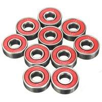 Wholesale 10pcs RS Inline Roller Skate Wheel Bearing Blacken x x cm Skateboard Wheel Bearing Red Sealed ABEC