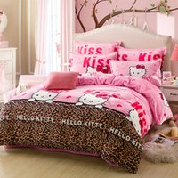 Wholesale Briet Flannel Bedding Set of four of Home Textile frozen bedding with duvet cover pillowcases flat sheet for Winter