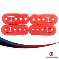 Wholesale PQY STORE Universal pc Red Polyurethane Exhaust Muffler HANGER Lengthened PQY8950R