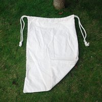 Wholesale Blanks l Blank Cotton Delivery Bag PlainChristmas Santa Sack With Drawstring On The Top and with DOM103189