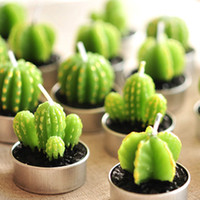 artificial cactus plants - Artificial Green Plants Candle Decoration Min Cactus Candles For Birthday Wedding Decoration Home Decro L026