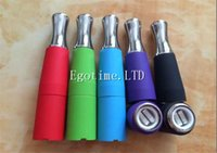 b tanks - Colorful Vape Skillet Vaporizer Wax Dual Ceramic Rod coils Tank Vaporizer Replacement Wax Skillet Atomizer Suit For EGO B EGO C EGO T EGO w