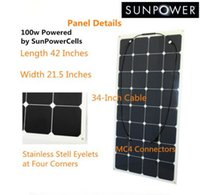 pv solar panel - 100w photovoltaic solar panels semi flexible solar module sunpower cell marine PV PANEL high efficiency for Yacht boat Caravan