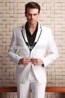 best men s blazers - Fashion white Men s Suits Jacket Pants Wedding Party Tuxedos Groom Suits Best man Blazers Top Selling custom made