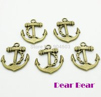 jewelry parts - Vintage bronze double sided Anchor Part Charm pendants jewelry findings DIY dandys