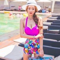 Wholesale Hot Women Floral Bandage High Waist Push Up Two Pieces Swimsuit Bikini Set M L XL Best