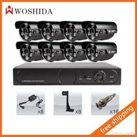 Wholesale 8CH Security Camera Set DVR HD TVL CCTV Bullet Camera Woshida