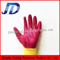 nitrile coated gloves - Hand gloves manufacturers in china sample free Gauge knitted nylon coated nitrile gloves working nitrile glove safety glove