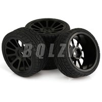alloy rims and wheels - 4 x mm Drive Hex RC On Road Car Tire and Alloy Spokes Wheel Rim Black