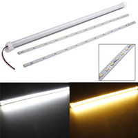 Wholesale 50cm DC V W SMD LED Waterproof Rigid Strip Cabinet Light with Cover and Plastic Mount LEG_222