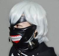 Wholesale Anime Cosplay Tokyo Ghoul Kaneki Ken Mask Adjustable Zipper Masks PU Leather Mask Tokyo Ghoul Mask hot