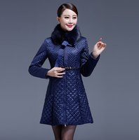 age worsted - 2016Qiu dong the glossy middle aged mother quilted diamond lattice cotton padded clothes Fancy coat of cultivate one s morality