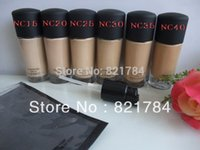 Wholesale 6pcs makeup liquid Foundation Studio fix fluid SPF Foundation ML NC NW