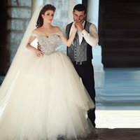 Cheap Ball Gown Wedding Dresses Best Crystals Wedding Gowns